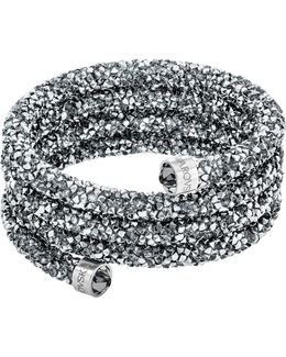 Crystaldust Crystal And Stainless Steel Wide Bangle