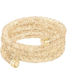 Crystaldust Goldtone Crystal And Pvd Wide Bangle