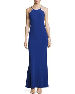 Halter Open Back Gown