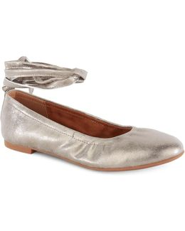 Have A Heart Ankle Wrap Ballet Flats