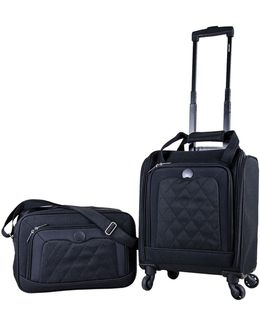 Valence Quilted 2-piece Luggage And Tote Bag Set