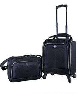 Valence Silvertone 2-piece Luggage And Tote Bag Set