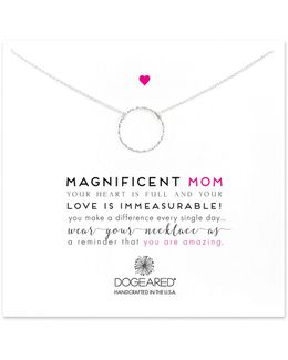 Magnificent Mom Sterling Silver Necklace
