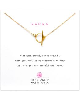 Karma Sterling Silver Toggle Necklace