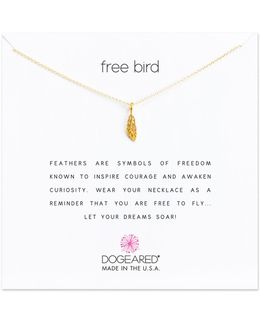 Reminders Sterling Silver Free Bird Open Feather Pendant Necklace