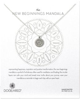 New Beginnings Mandala Sterling Silver Pendant Necklace