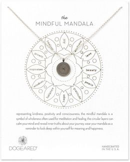 Mindful Mandala Sterling Silver Pendant Necklace