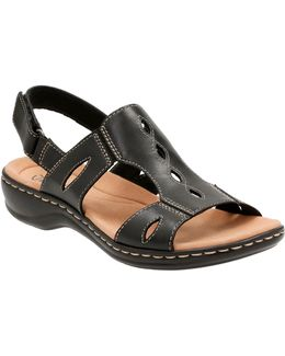 Cushion Soft Leisa Lakelyn Leather Flat Sandals