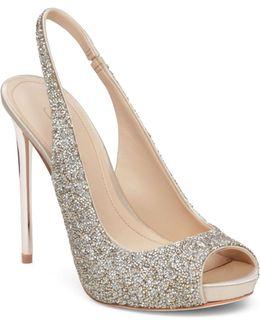 Pavi Glitter Slingback Sandals