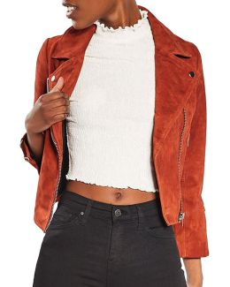 Julie Suede Biker Jacket