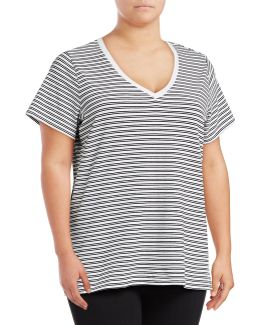 Striped Compact Cotton T-shirt
