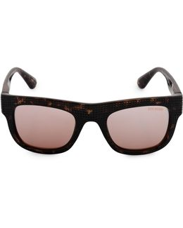 51mm Perforated Flat Top Square Sunglasses