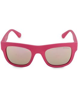 Perforated Flat Top 51mm Square Sunglasses