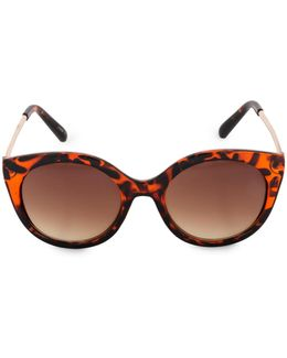 Glamours 53mm Tortoise Oval Sunglasses