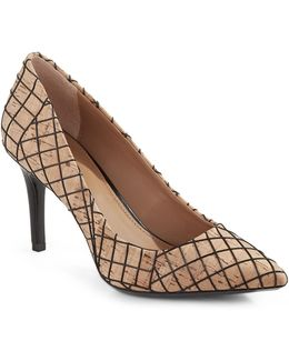 Gayle Cork Pointed Toe Pumps
