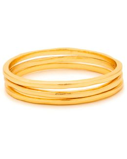 Three-piece 18k Goldplated Ring Set