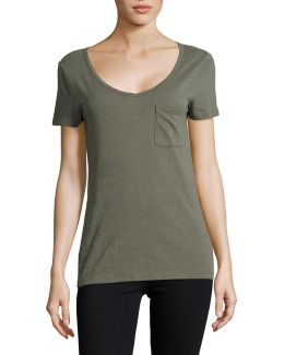 V-neck Slub Pocket Tee