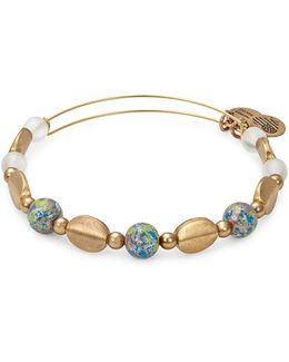 Rafaelian Gold Flash Cosmo Beaded Bangle Bracelet