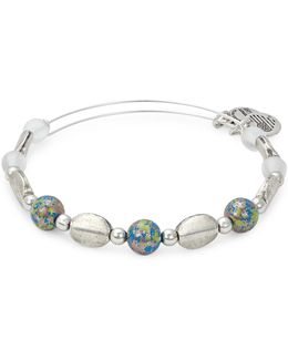 Rafaelian Silverplated Cosmo Beaded Bangle Bracelet