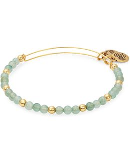 Colour Classics Gold Flash Fern Beaded Bangle Bracelet