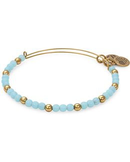 Colour Classics Gold Flash Bluebell Beaded Bangle Bracelet
