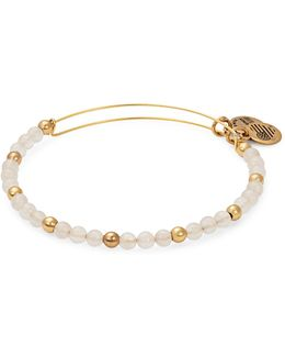 Colour Classics Gold Flash Fairy Beaded Bangle Bracelet