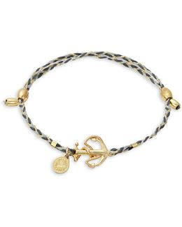 Goldplated And Sterling Silver Anchor Precious Threads Bracelet