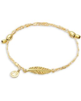Goldplated And Sterling Silver Feather Precious Threads Bracelet