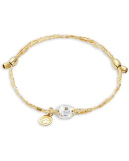 Swarovski Crystal, Goldplated And Sterling Silver Golden Ray Crystal Precious Threads Bracelet