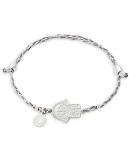 Sterling Silver Hand Of Fatima Precious Threads Bracelet
