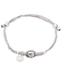 Precious Threads Icy Moon Crystal Sterling Silver Bracelet