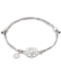 Precious Threads Lotus Peace Petals Sterling Silver Bracelet
