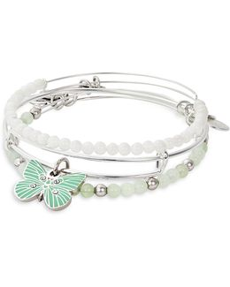 Three-piece Butterfly Bracelet Set