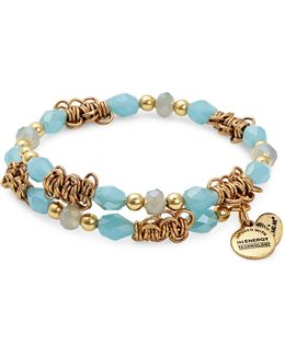 Tide Fate Wrap Rafelian Gold Bracelet