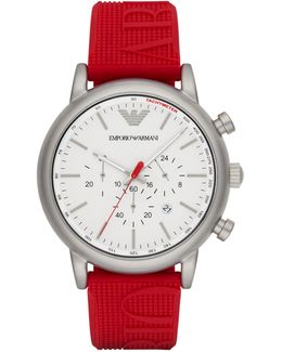 Chronograph Luigi Silicone Strap Watch