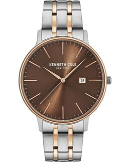 Analog Kc15095001 Two-tone Stainless Steel Bracelet Watch
