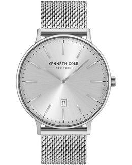Analog Kc15057009 Stainless Steel Mesh Strap Watch