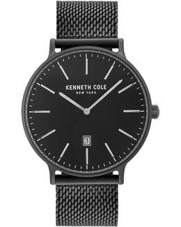 Analog Kc15057012 Stainless Steel Mesh Strap Watch