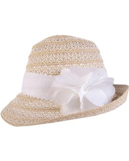 Packable Flower Cloche Hat