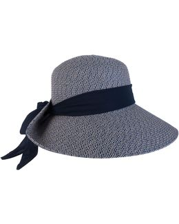 Packable Floppy Hat With Scarf