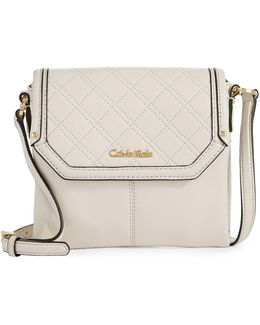 Quilted Pebbled Crossbody Bag