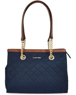 Florence Quilted Nylon Satchel