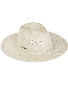 Sequined Straw Panama Hat