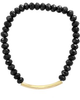 Black Spinel And 14k Yellow Gold Bracelet