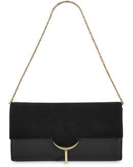 Zana Pull-lock Leather Clutch
