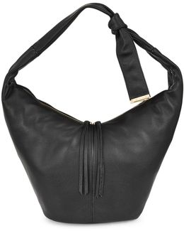 Tie Strap Leather Hobo