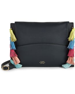 Neara Tassel Ring Leather Clutch