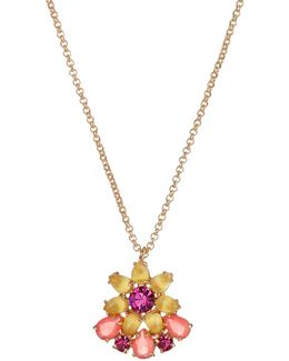 Brilliant Bouquet Mini Pendant Necklace