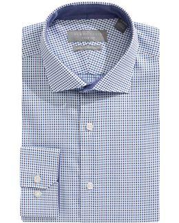 Slim Non-iron Dobby Check Dress Shirt