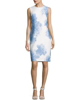 Largescale Floral Sheath Dress